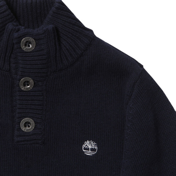 Timberland Boys Blue Boys Half Button Jumper main image