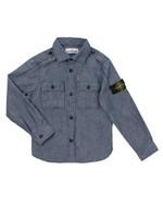 Denim Sleeve Badge Shirt