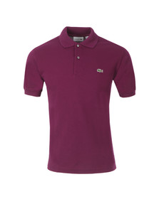 Lacoste Mens Purple L1212 Oursin Plain Polo Shirt