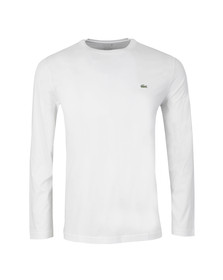 Lacoste Mens White TH5276 Long Sleeve T-Shirt