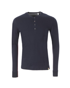 Paul Smith Jeans Mens Blue Long Sleeve Henley T Shirt