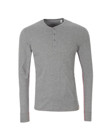 Paul Smith Jeans Mens Grey Long Sleeve Henley T Shirt
