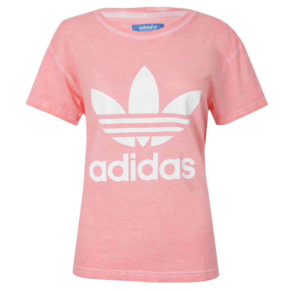 adidas Originals Womens Pink Premium Essentials Washed T Shirt cd966fd3c