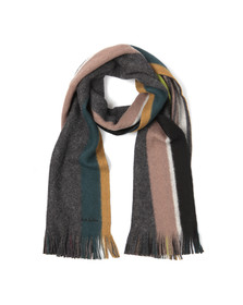 Paul Smith Jeans Mens Grey Reversible Stripe Scarf