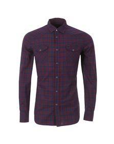 Diesel Mens Red Sulf Check Shirt