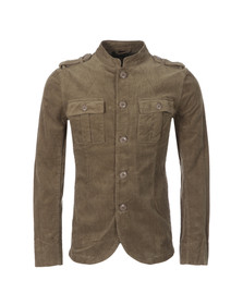Pretty Green Mens Green Lennon Cord Jacket