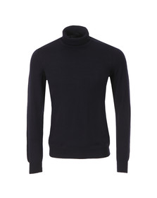 J.Lindeberg Mens Blue Sargon Merino Roll Neck Jumper