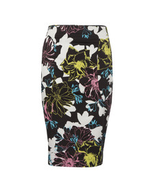 French Connection Womens Black Botanical Trip Pencil Skirt