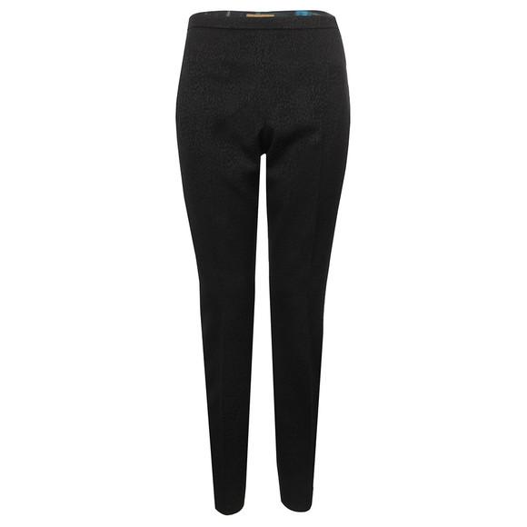 Ted Baker Womens Black Shilat Leopard  Jacquard Suit Trouser