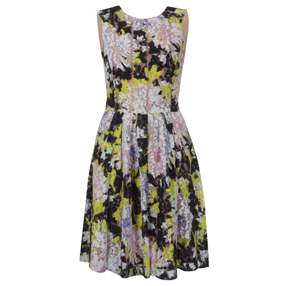 French Connection Womens Green Botanical Trip Lace Dress