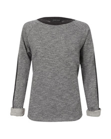 Maison Scotch Womens Grey Feminine Sweat In And Contrast