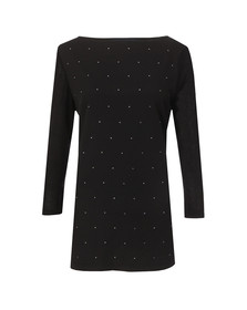 French Connection Womens Black Night Sky Polly Long Sleeve T Shirt