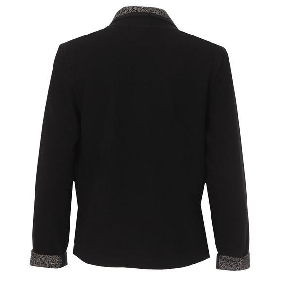 Maison Scotch Womens Black Slub Jersey Blazer main image