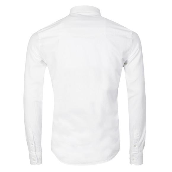 Duck & Cover Mens White L/S Harris Shirt main image
