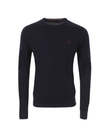 Fred Perry Mens Blue Crew Neck Jumper