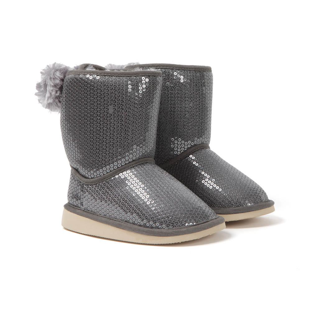 Sequin Fur Lined Boot