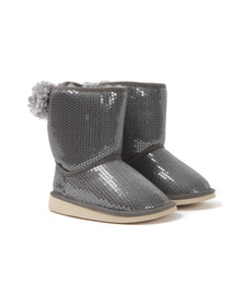 Billieblush Girls Grey Sequin Fur Lined Boot