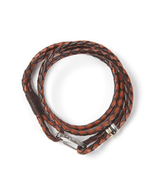 Paul Smith Jeans Mens Brown Leather Bracelet
