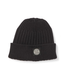Stone Island Junior  Boys Blue Boys Knitted Ribbed Beanie