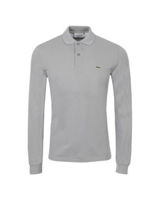 Lacoste Mens Grey L1312 Platine Long Sleeve Polo