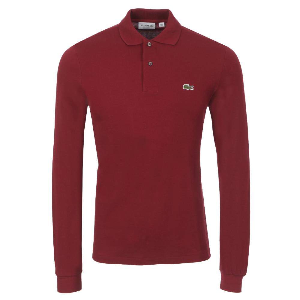 b3653bb8 Mens Red L1312 Pinot Long Sleeve Polo