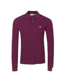 Lacoste Mens Purple L1312 Oursin Long Sleeve Polo