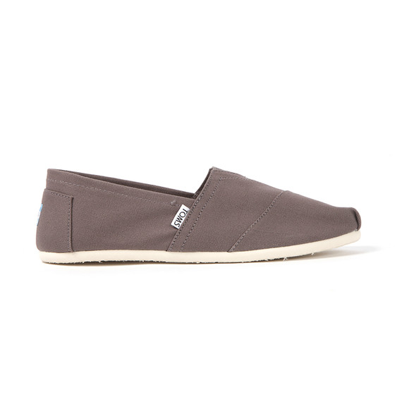 Toms Mens Grey Classic Canvas Espadrilles