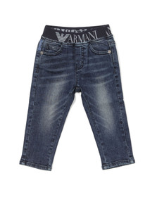 Armani Baby Boys Blue Elasticated Waistband Jean