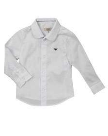 Armani Baby Boys White BDC01 Plain Shirt