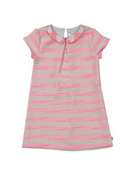 Girls Stripe Collared Dress