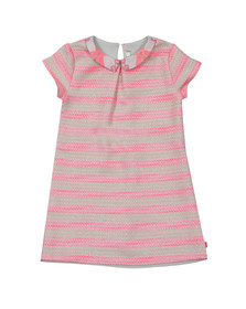 Billieblush Girls Pink Girls Stripe Collared Dress
