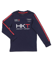 Hackett Boys Blue Aston Martin Racing HKT T Shirt