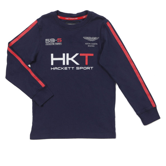 Hackett Boys Blue Aston Martin Racing HKT T Shirt main image
