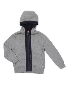 Boss Boys Grey Boys J25T33 Knitted Hoody