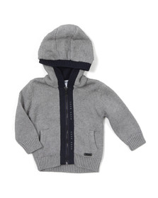 Boss Boys Grey Baby J05T31 Knitted Hoody