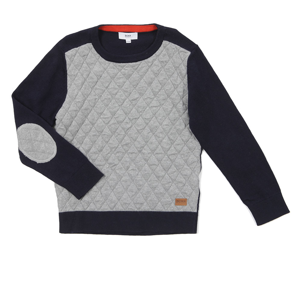 168b3c0473 BOSS Bodywear Boys J25885 Quilted Jumper | Oxygen Clothing