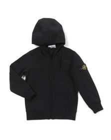 Stone Island Junior  Boys Black Soft Shell Jacket