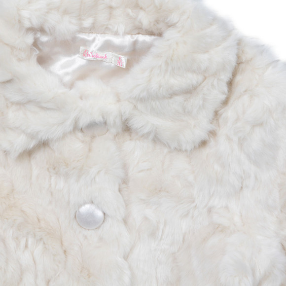 Billieblush Girls Off-white Girls Faux Fur Coat main image