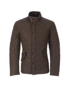 Barbour Lifestyle Mens Green Powell Quilted Jacket