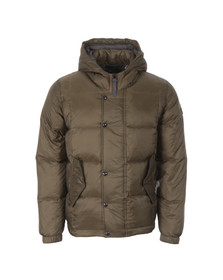 Paul Smith Jeans Mens Green Hooded Down Jacket