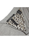 Maison Scotch Womens Grey Long Sleeve Jersey Cowl Neck Top