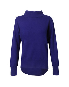 French Connection Womens Blue Ziggy Vhari Highneck Jumper