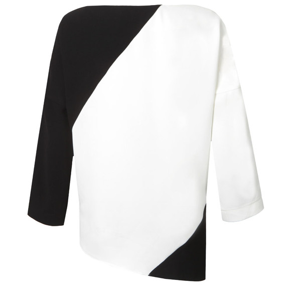 French Connection Womens Black Arrow Crepe Side Zip Top main image