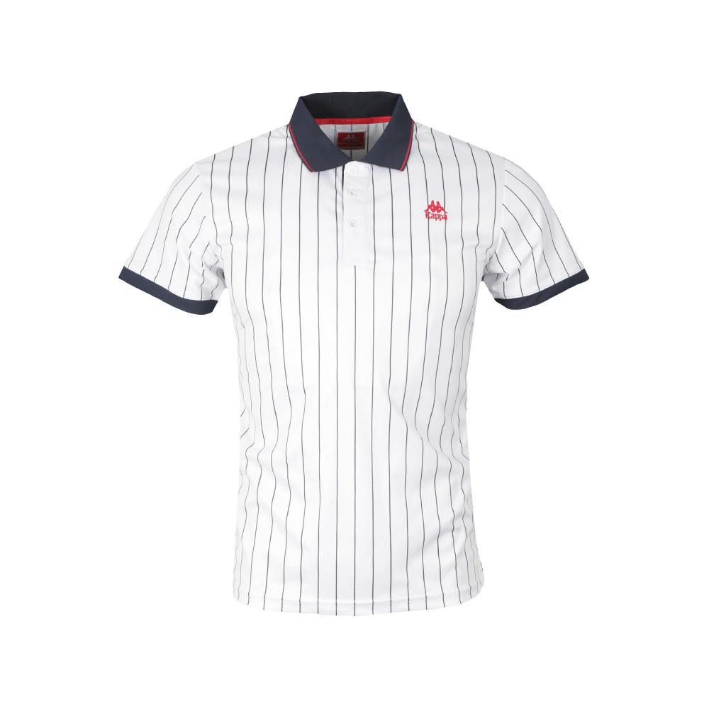 c3770a8de70e Kappa Mens White Strippa Stripe Polo Shirt