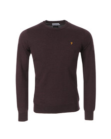 Farah Mens Red Mullen Wool Crew Jumper