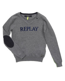 Replay Boys Grey Boys Crew Neck Jumper