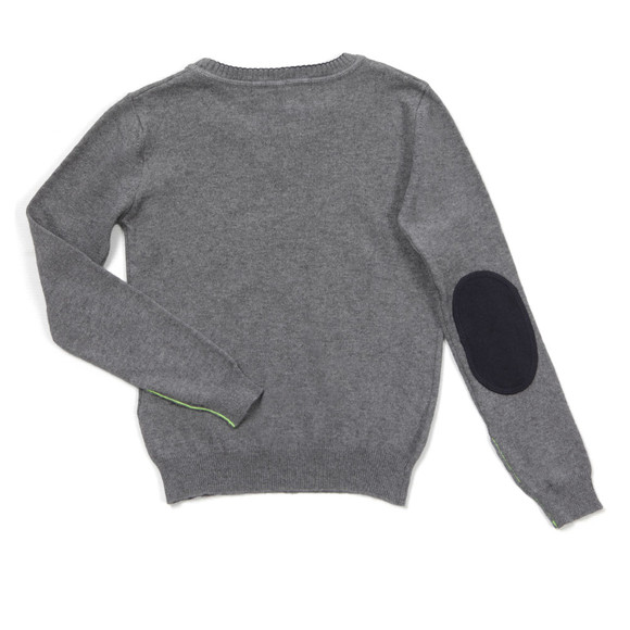 Replay Boys Grey Boys Crew Neck Jumper  main image