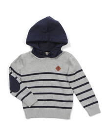 Timberland Boys Grey Hooded Jumper