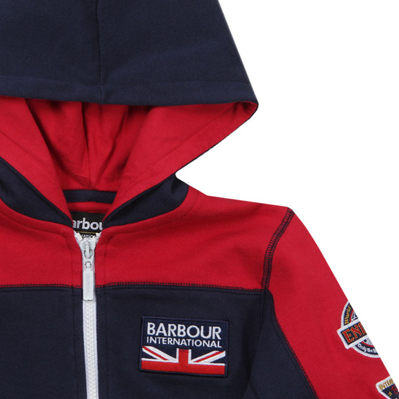 Barbour International Boys Blue Boys Kennet Zip Thru Hoody main image
