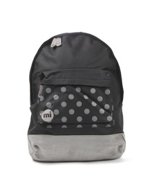Mi Pac Unisex Black Polkadot Pocket Print Backpack